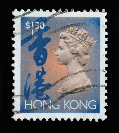 HONG KONG - CIRCA 1994   stamp printed by Hong Kong, shows portrait of Queen Elizabeth II,circa 1994