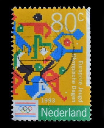 NENETHERLANDS - CIRCA 1993   postage stamp shows European Youth Olympic Days  circa 1993 Editorial