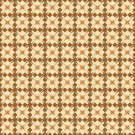 Seamless floral vintage pattern on brown  Stock Photo