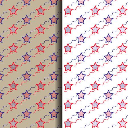 estrella azul: Vector rojo transparente abstracta y patr�n de estrella azul de fondo
