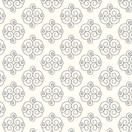 vector lines: Seamless vector lines with curve pattern background Illustration