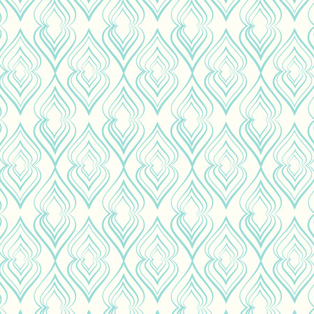 Seamless pattern lines curve vector background Vector