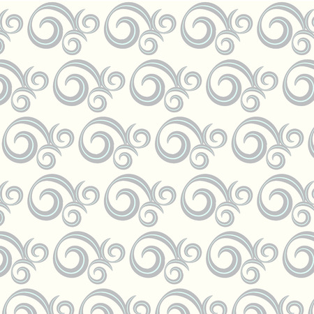 seamless vector two tone curve and wavy pattern background