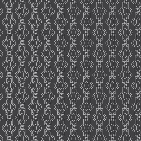 Seamless vector lines with curve monochrome pattern background Vector