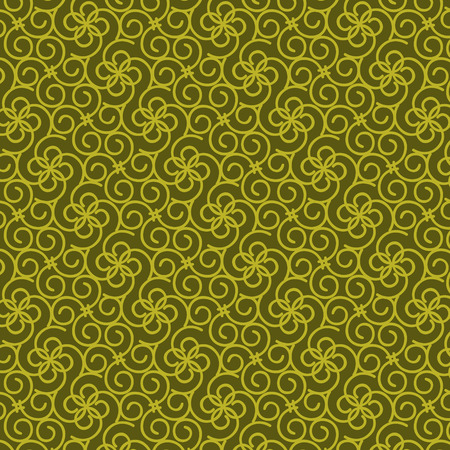seamless vector lines with curve pattern yellow background Vector