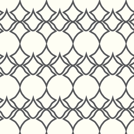 Vector seamless line and curve pattern background Vector