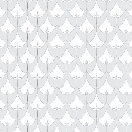 abstract line and curve monochrome seamless pattern background Vector