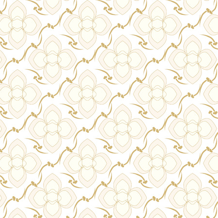 two tone: seamless vector two tone colors floral pattern background Illustration