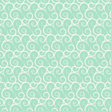 vector seamless curve and wavy pattern background Vector