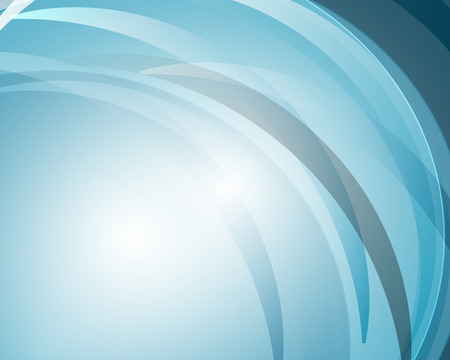 Abstract curve and lines blue background