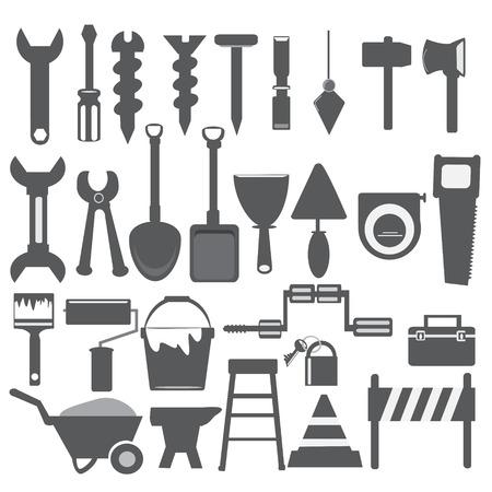 Working tools grey icon Vector
