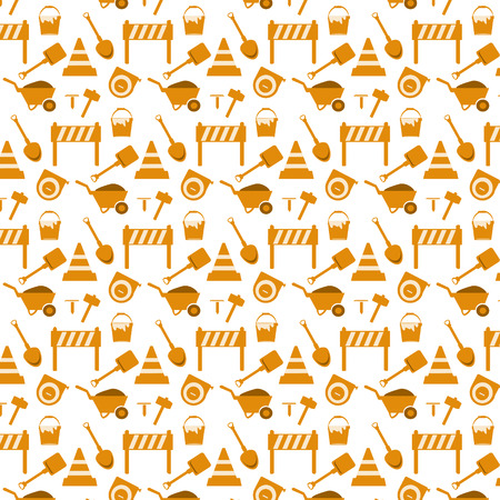 seamless pattern working tools background Vector