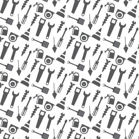 naadloos patroon werkinstrumenten icoon monochrome achtergrond