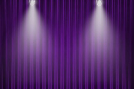 purple curtain and light for background