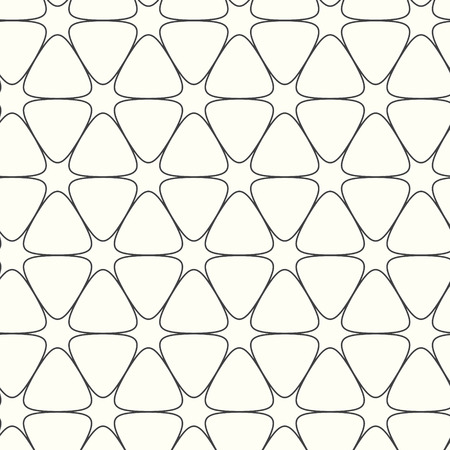 abstract vector seamless pattern lines with curve, floral background Vector