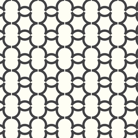 vector seamless pattern curve monochrome background Vector