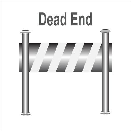 dead end: barricade warning sign, Dead End vector illustration Illustration