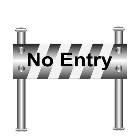 barricade warning sign, No Entry vector illustration Vektorové ilustrace