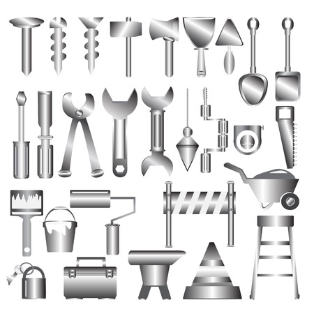 Working tools metal icon