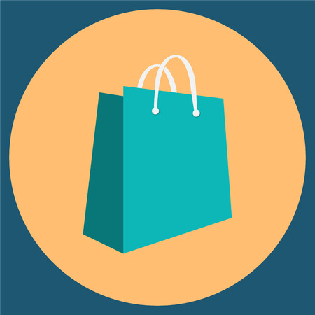 gree: Shopping bag icon vector illustration