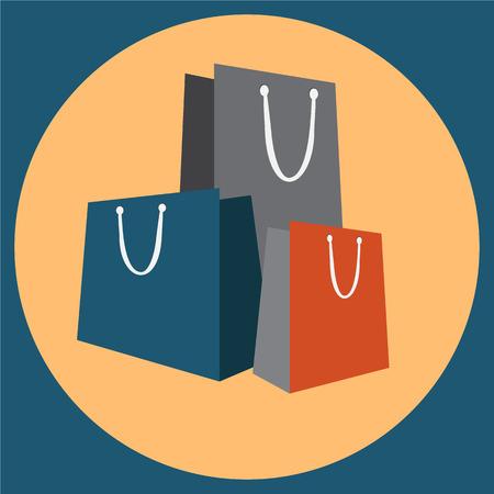 Shopping bag icon vector illustration