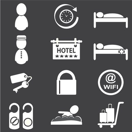 hotel icons: Hotel icons, vector illustration Illustration