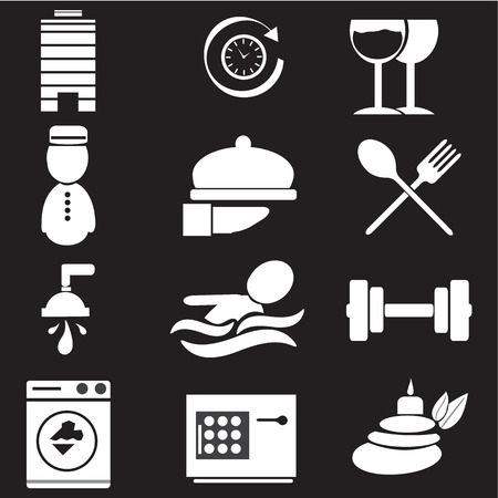 miscellaneous: Hotel, miscellaneous icons, vector illustration