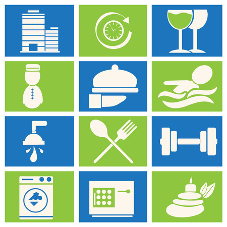 Hotel and miscellaneous icons, vector illustration Ilustracja