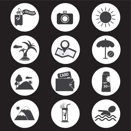 Travel and vacation Icons set vector illustration Illustration