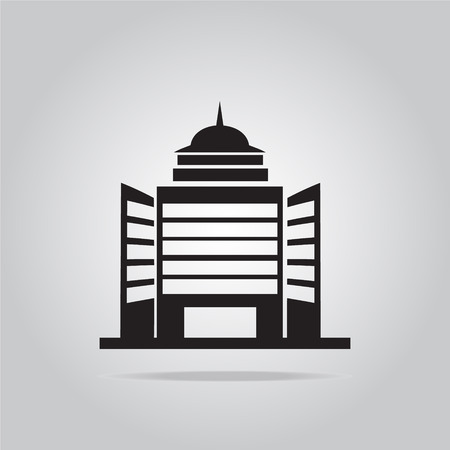 resident: Building office icon vector illustration Illustration