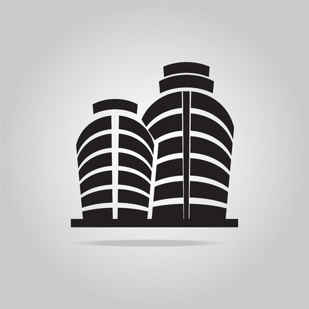mall signs: Building office icon vector illustration Illustration