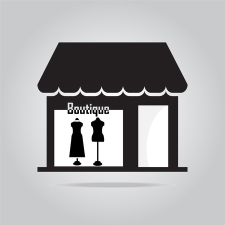 boutique display: Boutique Shop icon vector illustration