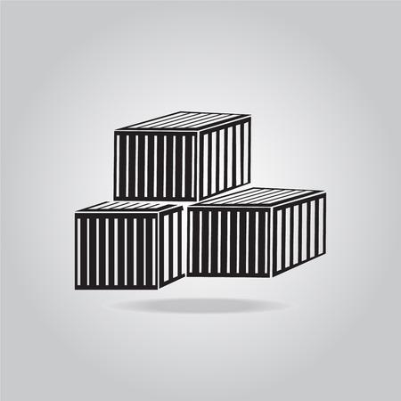 Armazenamento Caixas caixas, recipientes ilustração do ícone do vetor Ilustração