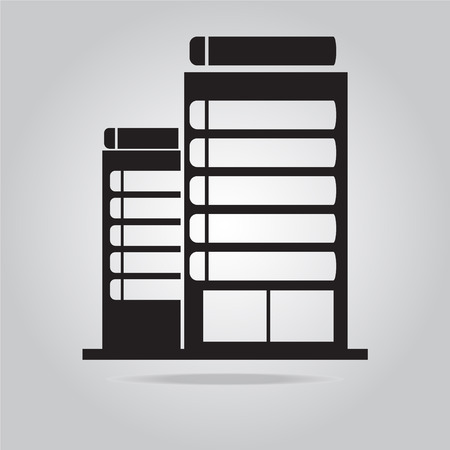 office building: Office Building icon vector illustration