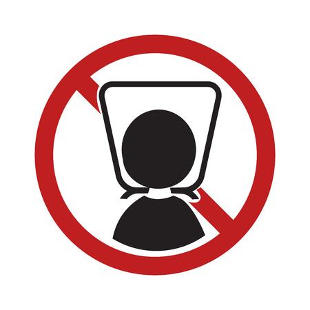 Waarschuwingsbord. Om het gevaar van verstikking van baby's en kinderen teken voorkomen. Vector illustratie