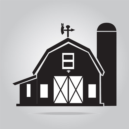 Building icon, barn vector illustration Иллюстрация