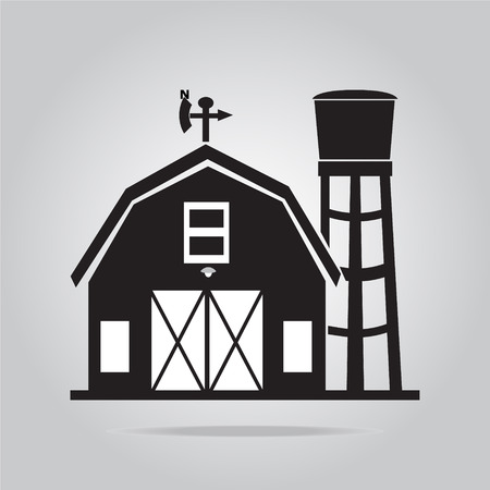 Building icon, barn vector illustration 일러스트