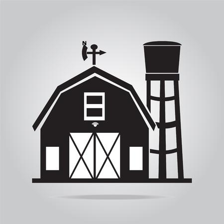 Building pictogram, schuur vector illustratie Stock Illustratie