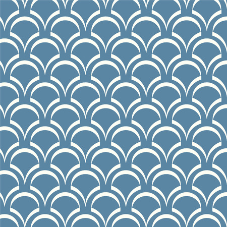 blue wave: abstract seamless pattern white and blue wave Japanese vector background