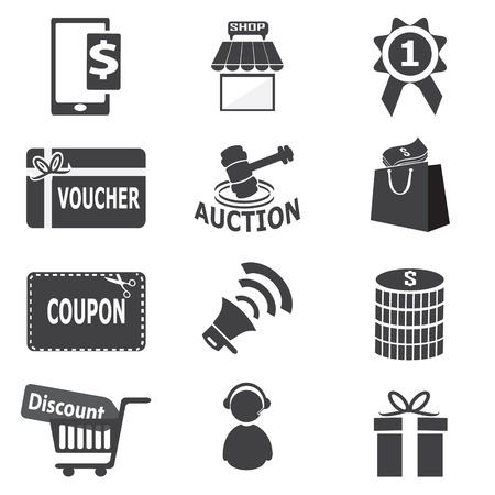 dollar symbol: Shopping, business icon vector illustration Illustration