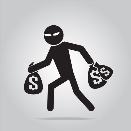 pickpocket: Beware pickpocket sign, pickpocket icon vector illustration