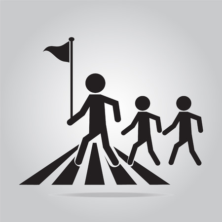 pedestrian crossing sign, school road sign vector illustration
