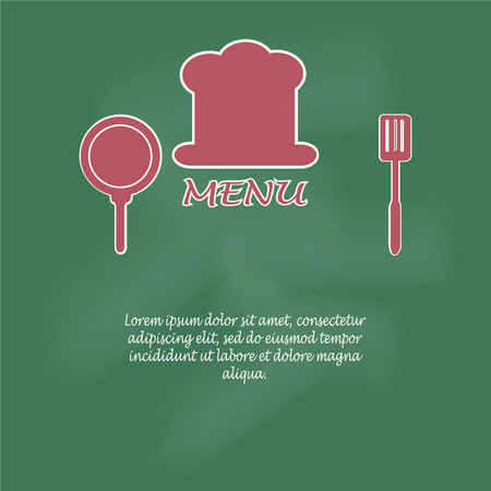 cooking book: Menu page design. cooking book page concept vector illustration