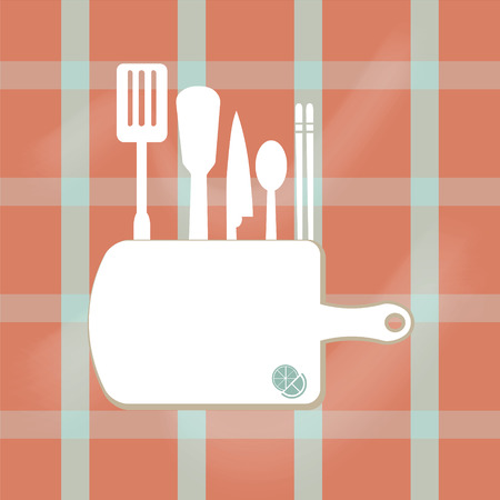 cooking book: kitchenware sign,  cooking book page concept vector illustration