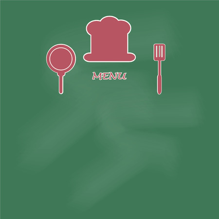 cooking book: Menu page design. cooking book page concept vector illustration background