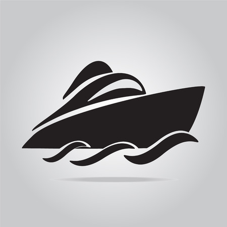 speedboat: Speedboat symbol vector illustration