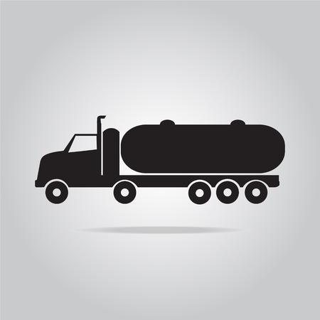 transport truck: Fuel Truck symbol vector illustration