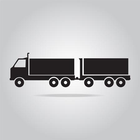 transport truck: Trailer Truck symbol vector illustration