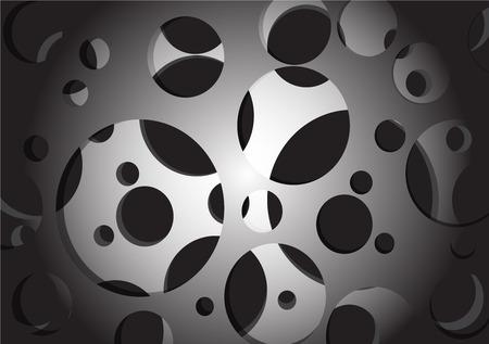 monochrome: Monochrome geometric vector abstract background