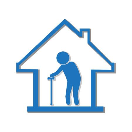 Verpleeghuis symbool, pictogram vector illustratie